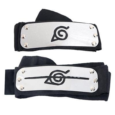 Naruto Shippuden Konoha Ninja Anti Leaf Village Head Band Combo Cosplay Prop