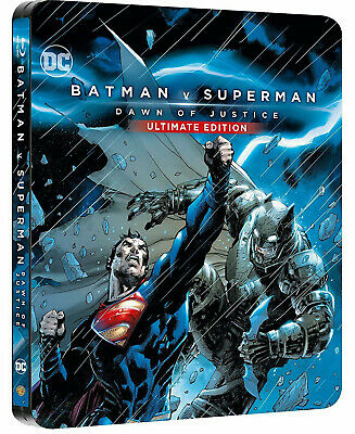 BATMAN V SUPERMAN - Ultimate Edition STEELBOOK (2 BLU-RAY) Lingua Italiana
