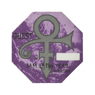 Prince 1997 Jam of the Year Concert Tour Satin Backstage Pass guest purple