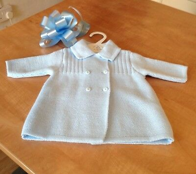 New Season Dandelion Baby Boys Blue Knitted Double Breasted Coat/Cardigan