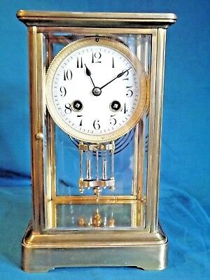 19c French Brass Four Glass Clock.
