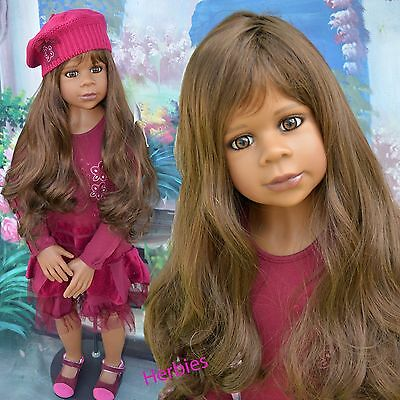 Masterpiece Dolls Gianna, Med Brown Wig, Fits 20-Inch Head, Doll Not Included