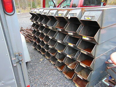 Vintage Antique  Industrial Hardware Store Metal Bins Drawers Boxes