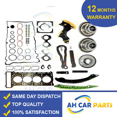 Timing Chain Kit Camshaft Adjuster Full Head Gasket Set MERCEDES 1.8 Kompressor