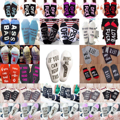 If You can read this Bring Me a Beer A Glass Of Wine Womens Mens Socks Unisex UK