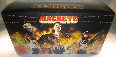 Machete (2011, Germany, Region A+B) Limited Edition Figurine Set w/Steelbook NEW
