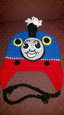 New Handmade Crocheted Thomas The Train Inspired Hat in All Sizes