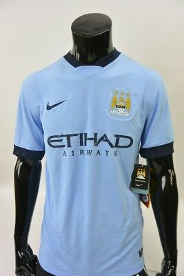 The Citizens Nike Manchester City Home Shirt 2014- 2015 SIZE M (adults)