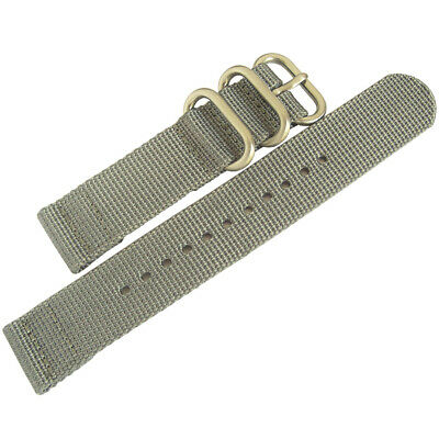 22mm deBeer Grey Ballistic Nylon UTC Military Dive Two-Piece Watch Band Strap