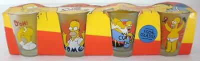 1999 The Simpsons Set Of 4 Homer Simpson Shot Glasses - New In The Box