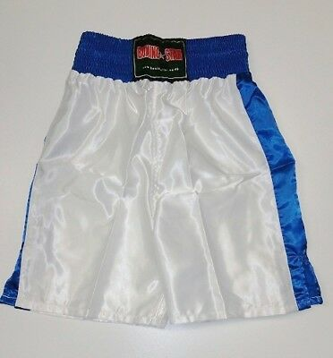 Boxing shorts White & Blue