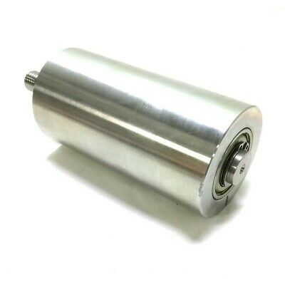"""Stainless Steel Conveyor Roller, L 100mm x D 50mm, 1/2""""-13 Mounting Threads"""