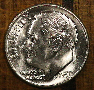 1953 S Roosevelt Dime CH BU LUSTER! 90% Silver US Coin