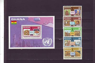 a131 - GHANA - SG1170-MS1175 MNH 1985 EXPORTED PRODUCTS