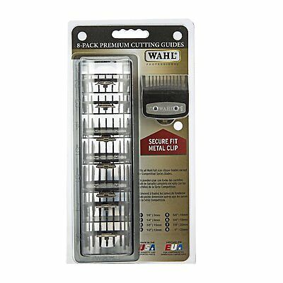 Wahl Premium Hair Clipper Cutting Guide Combs ( set of 8 w/tray) 3171-500