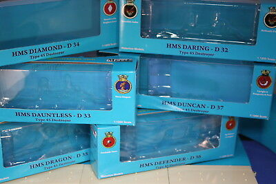 Type 45 Daring Class Destroyer set of six individually boxed Collectors Models