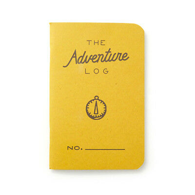 "Pack of 3 Word Notebooks, Pocket Size, 3.5"" x 5.5"", Adventure Log, Yellow"