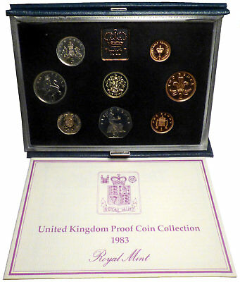 1983 United Kingdom Proof Coin Collection in Original Case