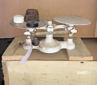 Detecto Balance Scale Bakers Dough Doughnut Donut Bakery Beam Scale with weights