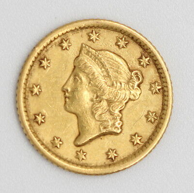 1853 - O One Dollar Liberty Head Type 1 Gold Coin No Reserve