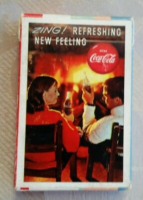 SEALED! 1963 Drink Coca Cola, ZING Refreshing New Feeling  Deck Playing Cards