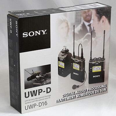 Sony UWP-D16 Digital Plug-on & Lavalier Combo Wireless Mic System UWPD16/30