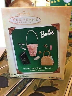 Hallmark Barbie Adding The Right Touch Christmas Ornament Handbags Sunglasses