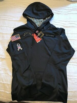 fd3dc737c ... discount nwt nike los angeles chargers nfl salute to service hoodie  small therma fit 84518 d3950