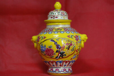 Chinese ceramics pure manual painting the patterns of the jar A
