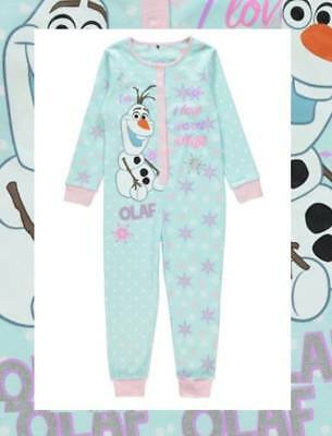 Disney Frozen Olaf All in One Pyjamas Nightwear Various sizes