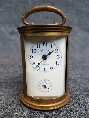 RARE UNUSUAL MINIATURE 19THc MANTLE CLOCK