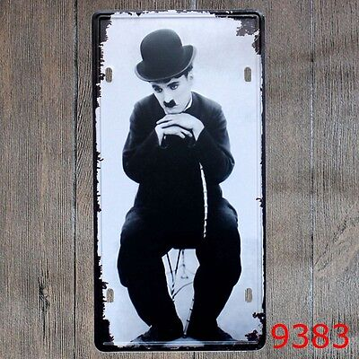 Metal Tin Sign chaplin Decor Bar Pub Home Vintage Retro Poster Cafe ART