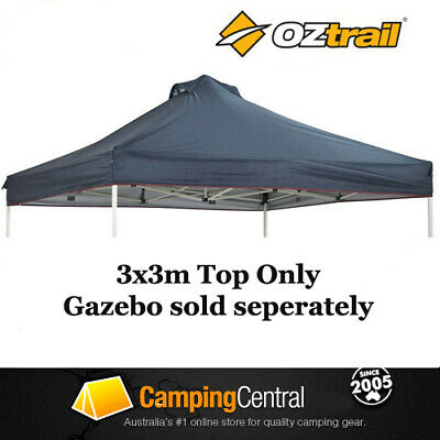 OZTRAIL 3x3M (150D BLUE) CANOPY FOR DELUXE GAZEBO REPLACEMENT ROOF