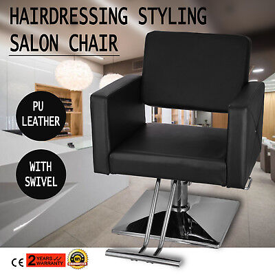 Hydraulic Barber Salon Chair Styling Leather Seating