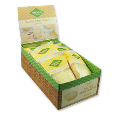 18 x Springhill Farm Butter Shortbread Biscuits Healthy Snacks