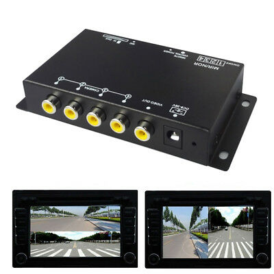 PAL/NTSC Car Camera VCR Image 4-Way Split-Screen Remote Control 360° Monitoring