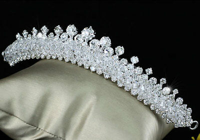 Bridal Wedding  Sparkling Tiara Comb use Swarovski Crystal AT1502