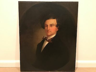 Antique Late 19th Century Portrait Oil Painting of a Gentleman Man c 1890