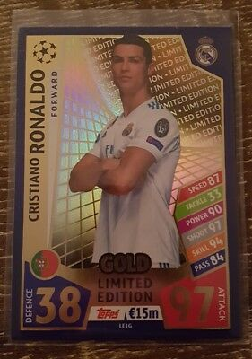 2017/18 Topps UEFA Match Cristiano Ronaldo limited edition Gold Real Madrid
