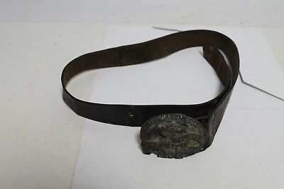 Antique  Leather  American Leather Man Belt With Buckles.