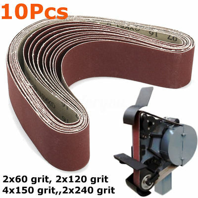 10Pcs Sanding Belts 50x686mm Mixed 60/120/150/240 Grit Sander File Long Lasting