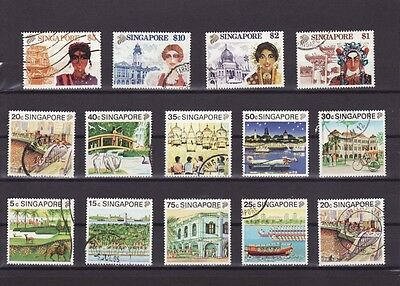 SINGAPORE 1990 TOURISM DEFINITIVE STAMPS Complete Set to $10.00 FINE USED (L020)