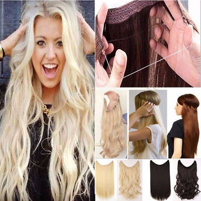 Secret Halo Hair Extensions Flip in Hairpiece Sexy Brown Blonde Style for Human