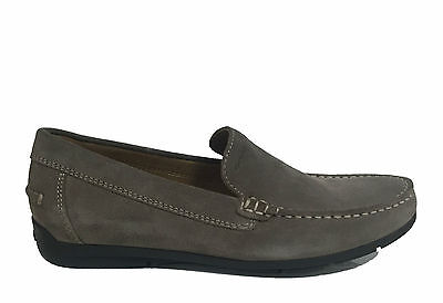 a51a7b916 GEOX MEN S SHOES Loafers Light In Soft Suede Taupe Line Walee U722Cc ...