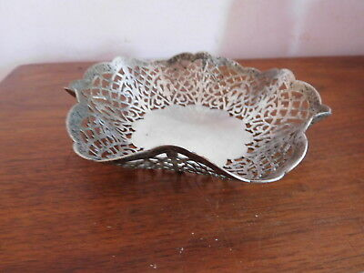 *found Vintage Ornate  Silver Plated Filigree Sweet Dish /bowl