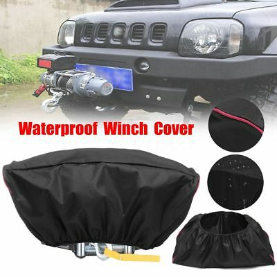 Waterproof Soft 600D Winch Dust Cover Driver Recovery 5000 - 13000 lbs Capacity
