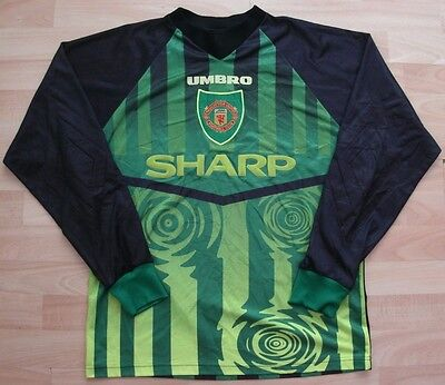 Manchester United 1997 Umbro Keepers Football Soccer Shirt Jersey Small Adult