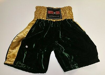 Boxing short velvet  Green & Gold
