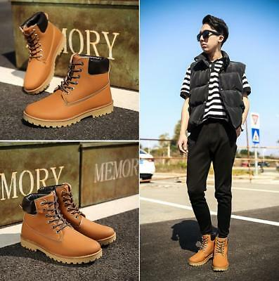 2017 Fashion Mens Winter Warm Military Snow Boots Combat Martin Shoes