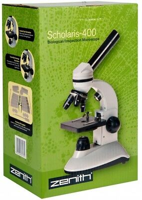 Zenith Scholaris-400 Dual Led Biological Inspection Microscope 60045, London